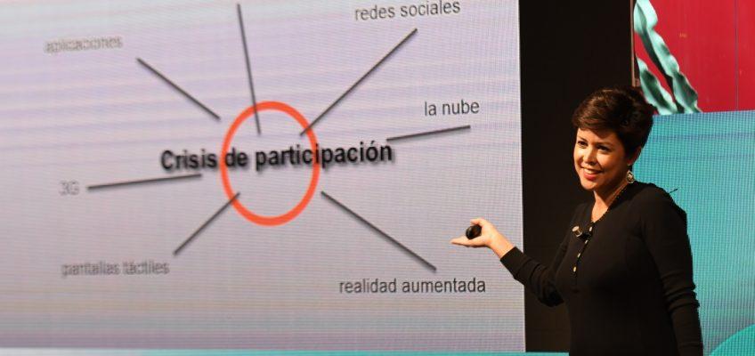 Mónica Pellejero durante su intervención en #SuperHéroes16