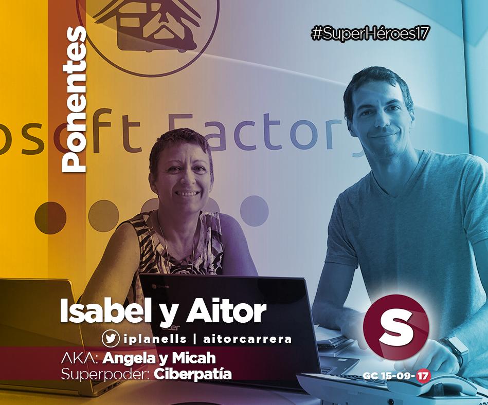 Aitor Carrera e Isabel Planells